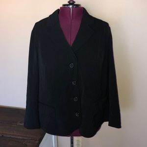 Lane Bryant Black 4 Button Blazer Jacket 26/28W